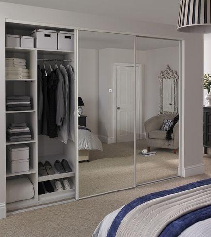 White edge mirror door | Decoration | Sliding wardrobe doors