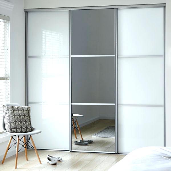 Extraordinary Bedroom Sliding Doors Classic 2 Soft White 1 Mirror