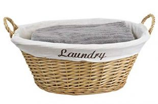 Amazon.com: Home Basics Wicker Laundry Basket (Natural): Home & Kitchen