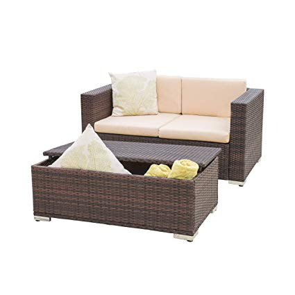 Amazon.com : Great Deal Furniture Westlake Outdoor Brown PE Wicker
