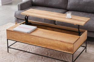Industrial Storage Pop-Up Coffee Table - Large | west elm