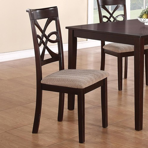 Choose perfect pair of wood dining chairs with upholstered seats
