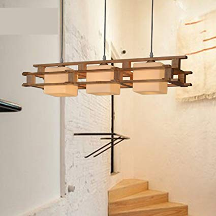 Amazon.com: Simple Japanese Chandelier New Chinese Wooden Dining