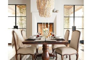 Amelia Wood Bead Chandelier | Pottery Barn