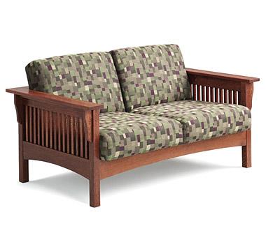 Wood Frame Sofa With Cushions | kiwiscats.com