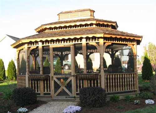 12x30 Wood Gazebo Kit, DIY Gazebo Kits at Alan's Factory Outlet