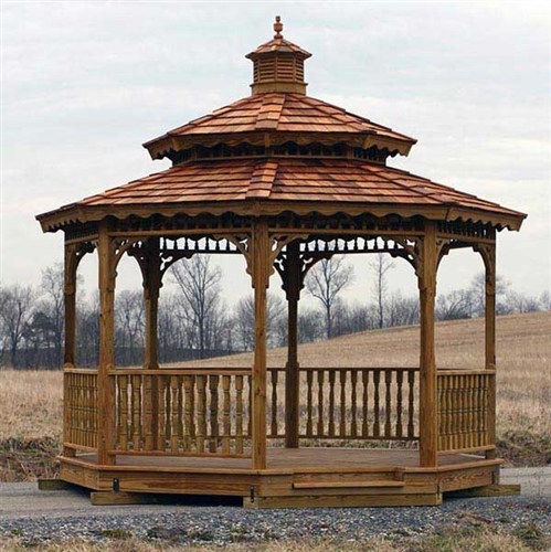 8x8 Wood Gazebo Kit, DIY Gazebo Kits at Alan's Factory Outlet