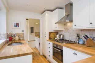 white with wood | kitchen ideas in 2019 | Cottage kitchens, Kitchen