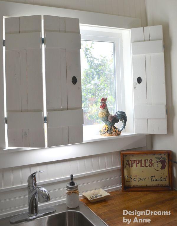 $10 DIY Indoor Shutters in 2019 | Home | Indoor shutters, Rustic
