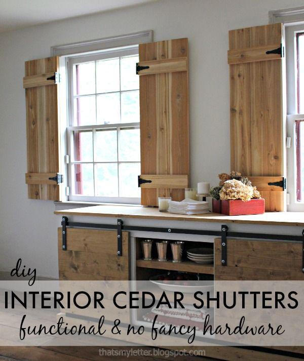 DIY Interior Cedar Shutters (Pretty Handy Girl) | diy | Cedar