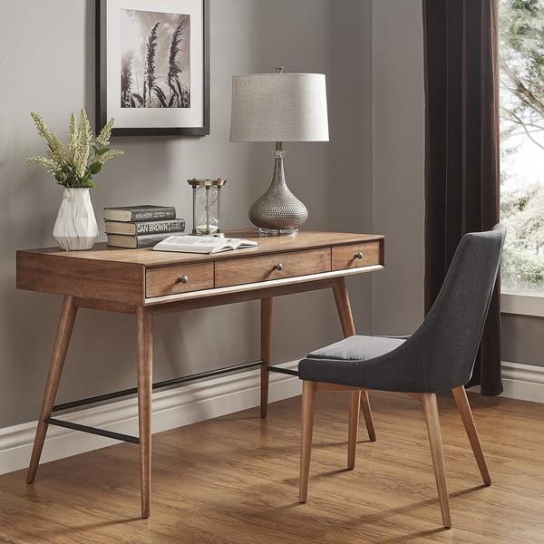 Shop Aksel Brown Wood 3-Drawer Writing Desk iNSPIRE Q Modern - On