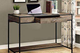 Amazon.com: Aingoo Large Writing Desk with Drawer 43x22 Rustic