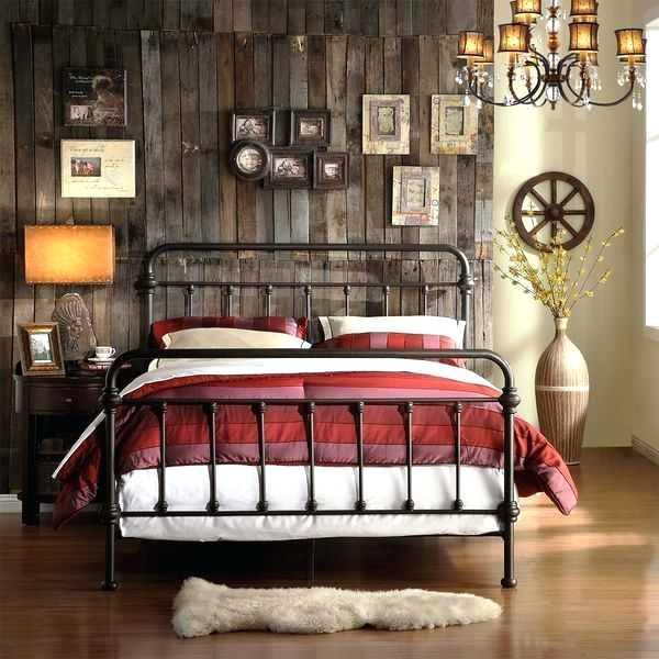 Antique Queen Size Metal Bed Frame Vintage White Panel u2013 contractsonline